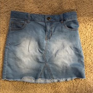 Cat and Jack super stretch jean skirt large 10-12